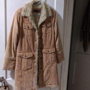 Corduroy fuzzy jacket